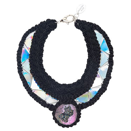 TITANIUM QUARTZ CRYSTAL STATEMENT CHOKER