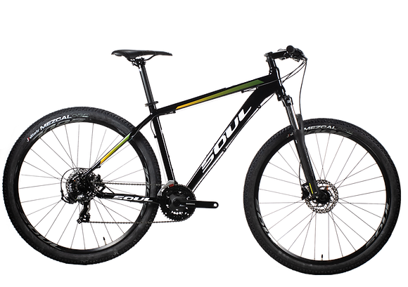 Bicicleta Soul SL129  Aro 29 Shimano Tourney 21V Preta