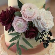 Elegant handmade sugar flowers.