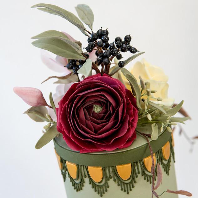 Top sugar flower arrangement.