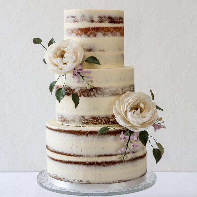 Rustic 3 tier buttercream wedding cake.