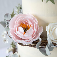 Handmade sugar flowers.