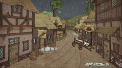 Деревня. Дождь