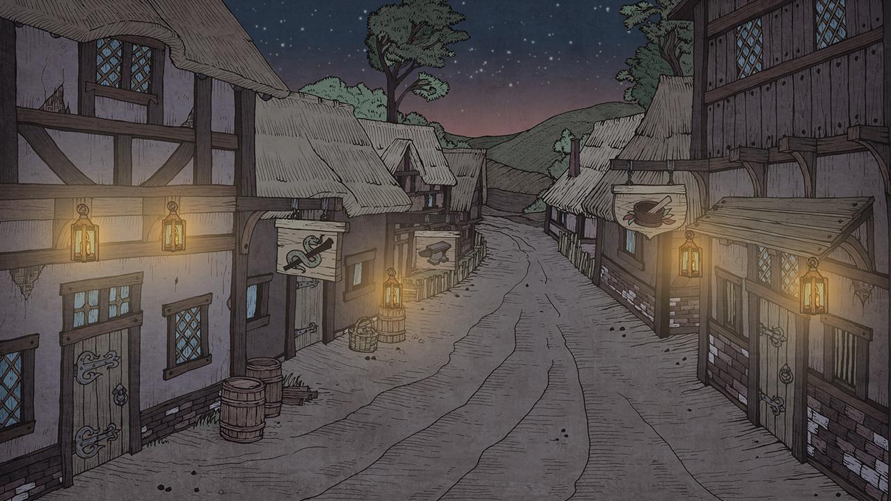 Деревня. Вечер