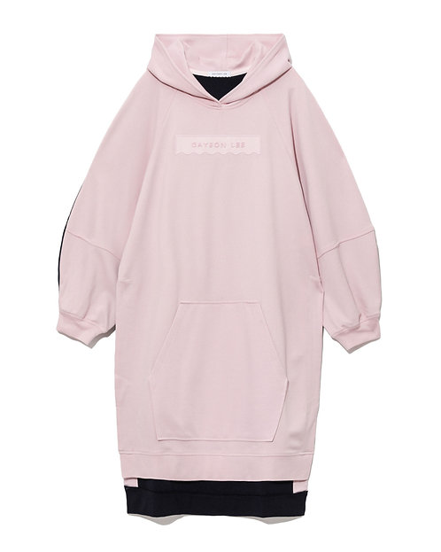 Laura Hoodied Sweatshirt -Pink/Navy
