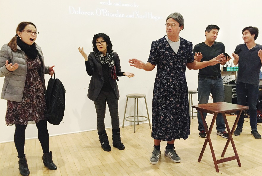 "A ""Gilmore Girls"" skit featured (from left) Helen Ota, Keiko Agena, Mike Palma, Aaron Shizuo Aoki and Will Choi."