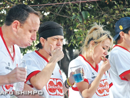 Competitors Hungry to Break Record at Gyoza Eating Championship