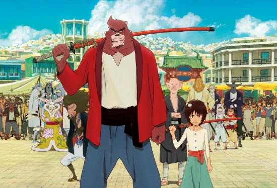 """Poster art for Mamoru Hosoda's """"The Boy and the Beast."""""""