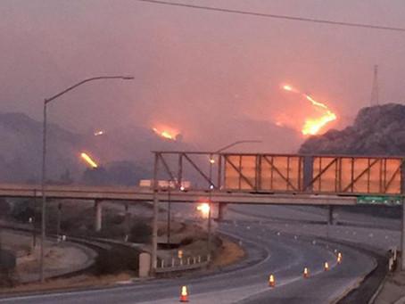 LA北部で山火事:日系住民も避難