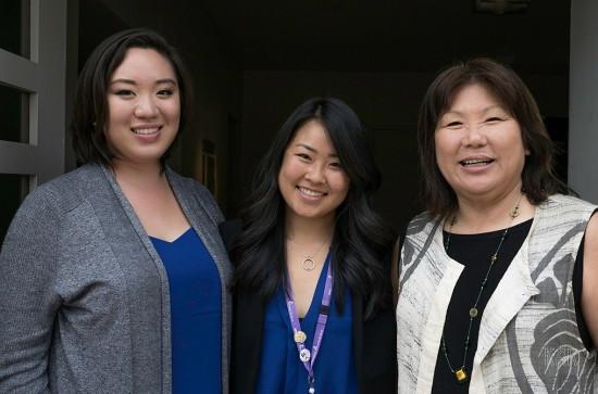 From left: Stephanie Nitahara, Krity Ishii, Diana Ono. (Photo by Kelley Rich)