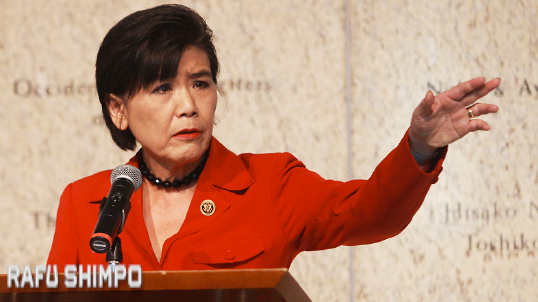 Rep. Judy Chu denounced anti-Muslim statements by elected officials and presidential candidates. (MARIO G. REYES/Rafu Shimpo)
