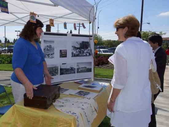 Displays by and Historic Wintersburg Preservation Task Force featured photos of Japanese American farming families as well as some arifacts.