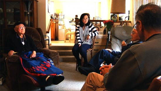 Tex Nakamura with Irene Yoshioka, Yukio Kawaratani and Phil Shigekuni. (Jon Esaki/JANM)