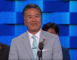 """Rep. Mark Takano of Riverside, the first openly gay person of color elected to Congress, addresses the Democratic National Convention as a proud """"gaysian."""" (ABC News)"""