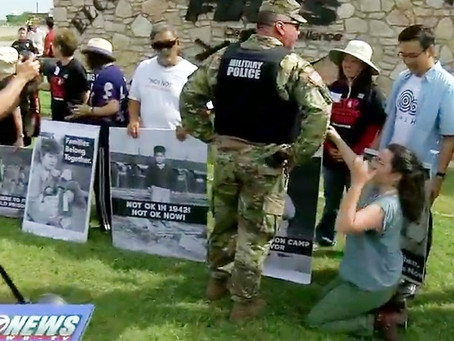 Tense Moments as JA Activists Protest at Fort Sill