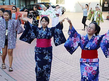 音頭2曲、一般参加者が初練習:三條勘菊社中が振り付け指導