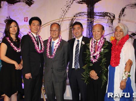 祝賀晩餐会に600人参加:3個人と3団体を表彰