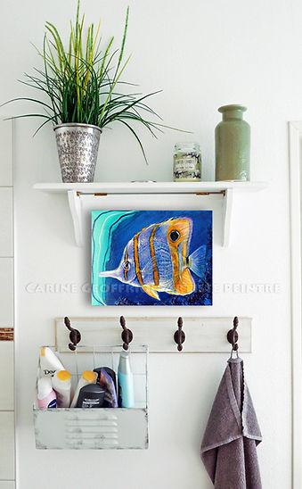 Artiste peintre toile animaux poisson