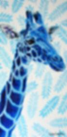 Toile girafe artiste peintre animalier