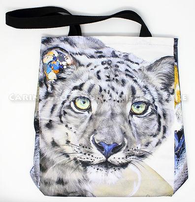 Sac fourre-tout léopard des neiges gris