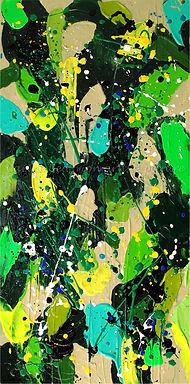 Oeuvre abstraite colorée contemporaine moderne texture artiste peintre