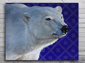 Peinture ours polaire artiste peintre animalier polar bear