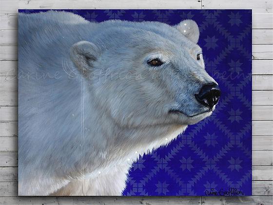 Artiste peintre animalier, peinture ours polaire