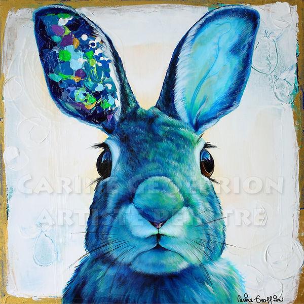 Artiste peintre animalier toile lièvre