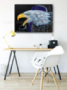 Artiste peintre québécoise toile oiseau aigle