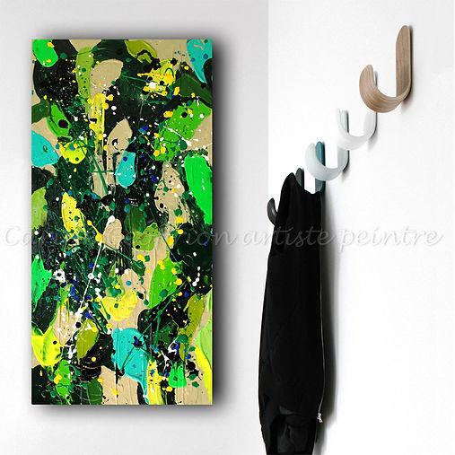 Peinture abstraite colorée texturée vibrante artiste peintre québécoise moderne contemporain