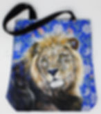 Sac Lion tote bag artiste peintre