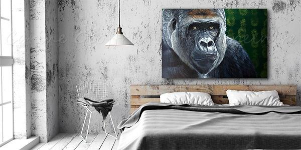 Peinture artiste peintre québécoise gorille primate