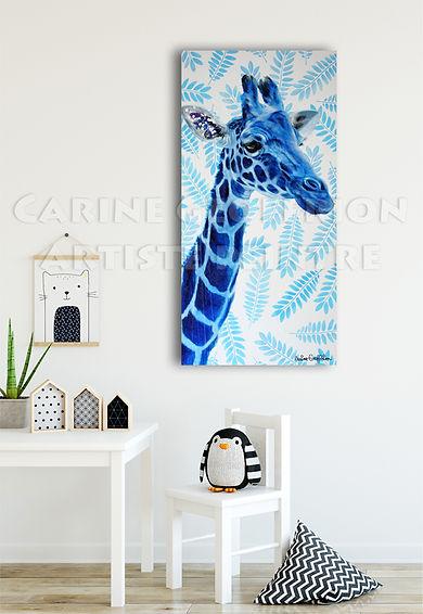 Peinture girafe artiste peintre