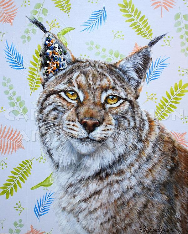 Toile peinture lynx artiste peintre