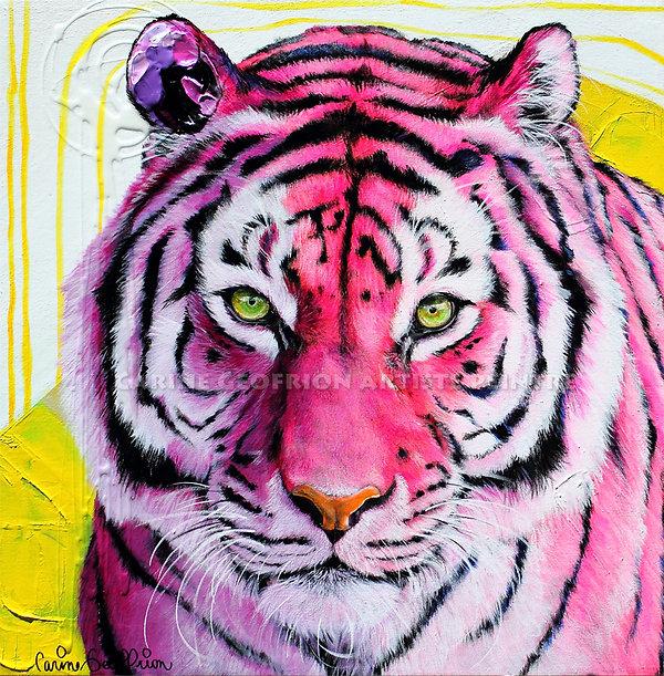 Toile artiste peintre tigre félin