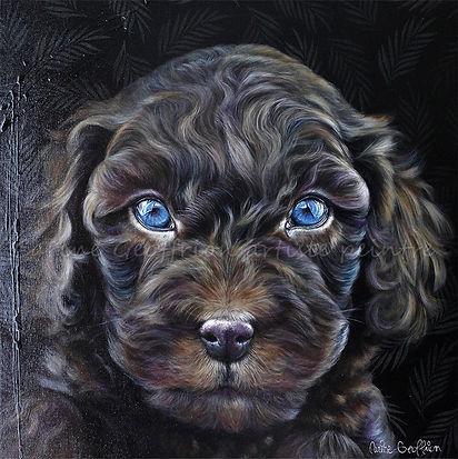 Toile peinture chien artiste peintre animalier