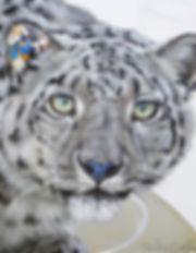 Artiste peintre québécoise toile félin léopard des neiges