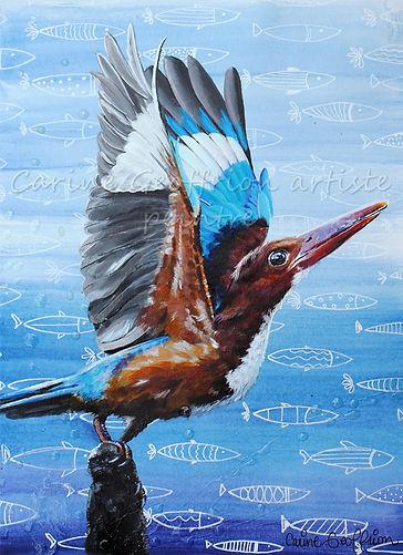 Peinture oiseau artiste peintre animalier