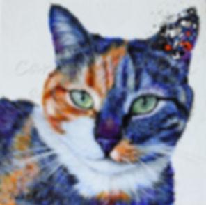 Toile chat artiste peintre animalier