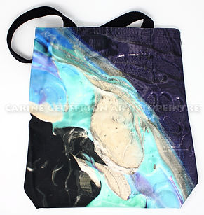 Artiste peintre sac fourre-tout bleu
