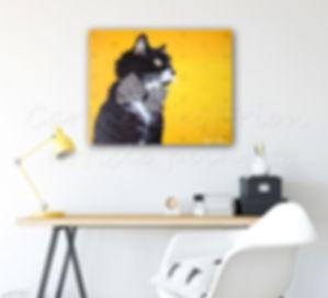 Toile peinture chat cat artiste peintre
