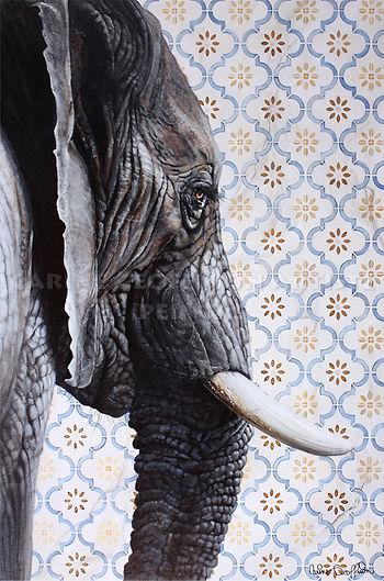 Peinture éléphant artiste peintre elephant