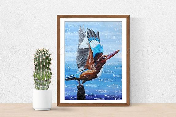 Toile artiste peintre animalier peinture oiseau bird