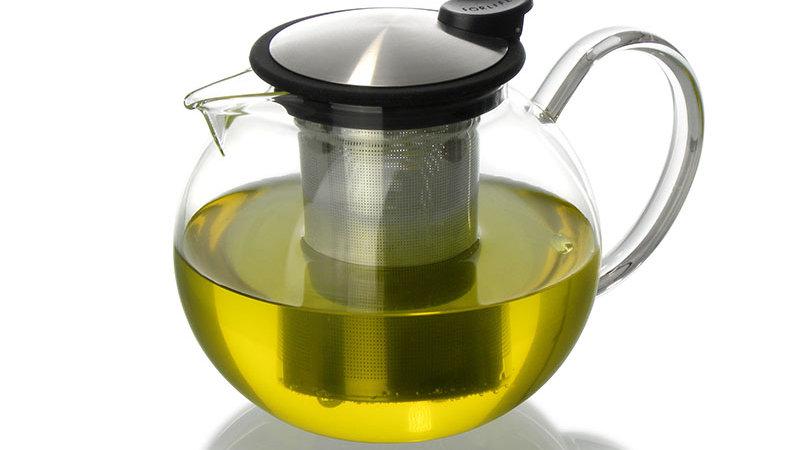 Forlife Bola Glass Teapot with Basket Infuser, 38 oz.