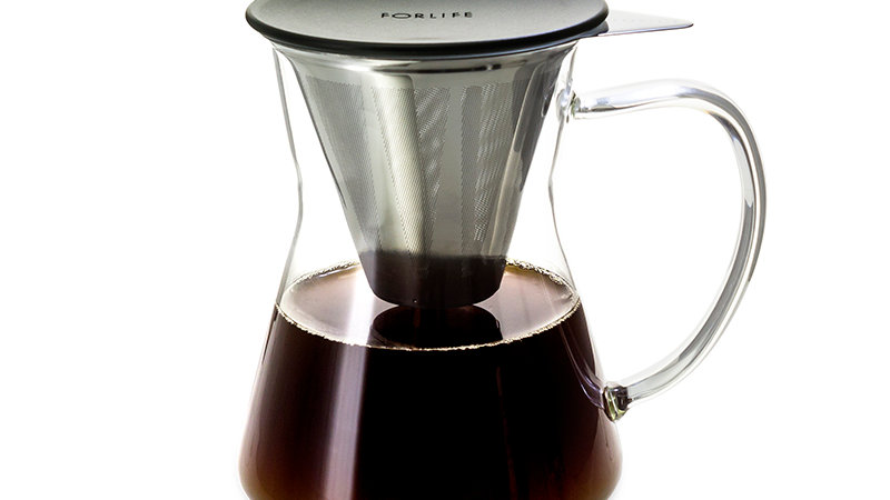 Forlife Lucidity Drip-in-Mug with Stainless Dripper & Lid 12 oz.