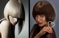 Креативная стрижка на средние волосы