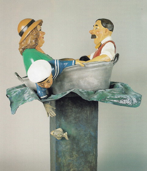 A wife on the Ocean Waves (fibreglass / wood)