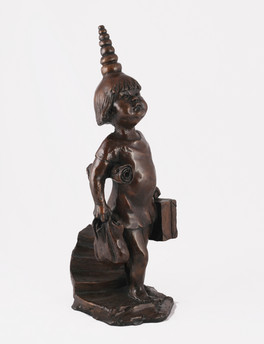 Miserable Little Buddha (bronze)