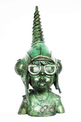 Head of Little Barnsley Buddha (bronze)