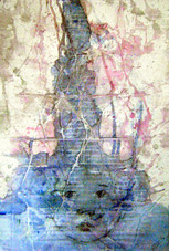 Little God series (acrylic & pencil on card)